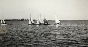 The snipe fleet racing in Charlottetown Harbour