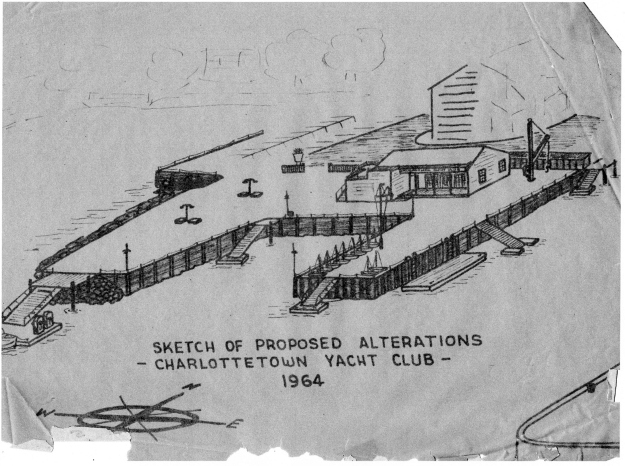 Charlottetown Yacht Club in 1964 showing changes and improvements - photo courtesy Ron Atkinson