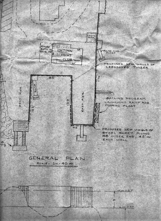 Detail from construction plan drawn by Clive Stewart.